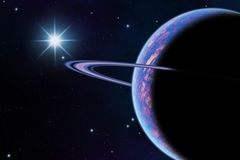 Planeta no espaço Foto de Stock