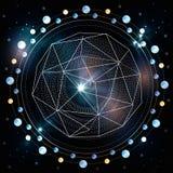Planeta no espaço Fotografia de Stock Royalty Free