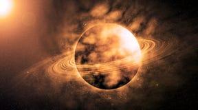 Planeta no espaço bonito ilustração royalty free