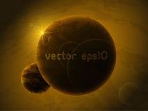 Planeta no espaço profundo Fotografia de Stock Royalty Free