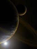Planeta no espaço profundo Fotos de Stock