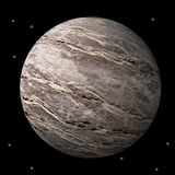Planeta o luna rocoso estéril Fotografía de archivo