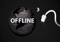 Planeta off-line del web Fotografía de archivo libre de regalías