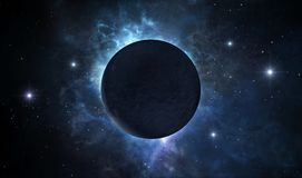 Planeta oscuro stock de ilustración