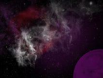 Planeta púrpura Fotos de archivo
