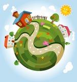 Planeta pequeno amigável Fotografia de Stock Royalty Free