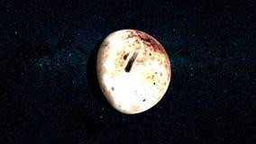 Planeta Plutón ilustración del vector