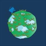 Planeta por completo del lirio-de--valle Fotos de archivo
