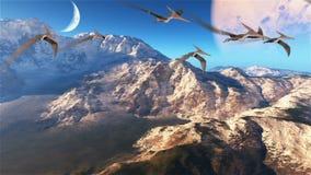 Planeta prehistórico hermoso, fondo abstracto ilustración del vector