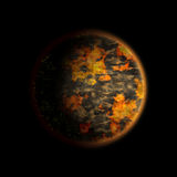 Planeta quente ilustração stock
