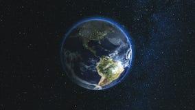 Planeta realista de la tierra contra el cielo de la estrella fotografía de archivo libre de regalías