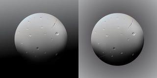 Planeta realista del extracto del vector en fondo gris de la pendiente stock de ilustración