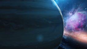 Planeta realista Júpiter del espacio ilustración del vector