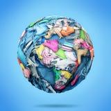 Planeta robi? odziewa na b??kitnym tle ilustracja wektor