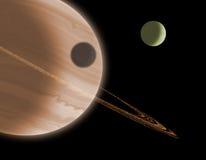 Planeta rodeado Fotografia de Stock Royalty Free