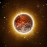 Planeta rojo Imágenes de archivo libres de regalías