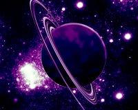 Planeta roxo - espaço da fantasia fotografia de stock