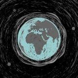Planeta rysunku ziemski nakreślenie Zdjęcia Stock
