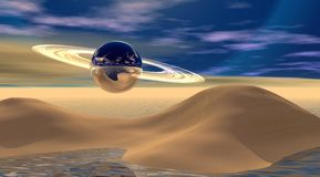 Planeta Saturno Fotografía de archivo libre de regalías