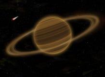 Planeta Saturno no espaço Foto de Stock