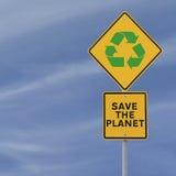 planeta save Zdjęcie Stock