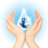 planeta save symbol Zdjęcia Royalty Free