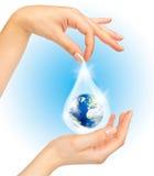planeta save symbol Zdjęcie Stock
