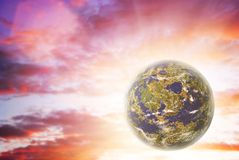 Planeta solo Foto de archivo libre de regalías