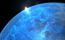 Planeta solo - salida del sol - #2 Fotos de archivo libres de regalías