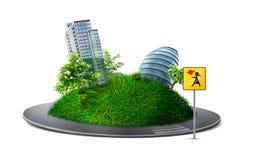 Planeta urbano ilustração do vetor