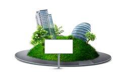 Planeta urbano com estrada Ilustração Stock