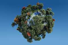 Planeta verde Fotografía de archivo