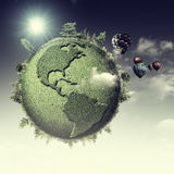 Planeta verde Imagen de archivo libre de regalías