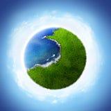 Planeta verde ilustração do vetor