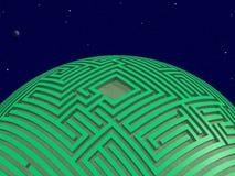 Planeta verde del laberinto Imágenes de archivo libres de regalías