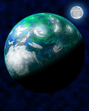 Planeta verde do espaço Fotografia de Stock Royalty Free