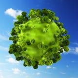 Planeta verde pequeno ilustração royalty free