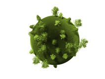 Planeta verde, representación 3d Foto de archivo