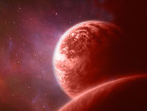 Planeta vermelho Foto de Stock Royalty Free