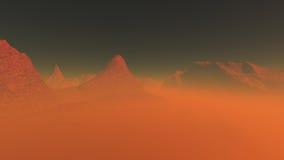Planeta vermelho 3 Imagem de Stock Royalty Free