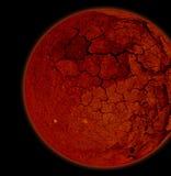 Planeta vermelho Imagem de Stock Royalty Free