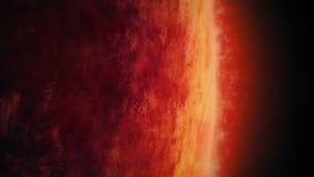 Planeta vermelho enorme com atmosfera raging ilustração royalty free