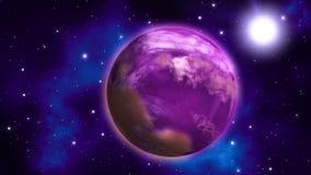 Planeta w przestrzeni pętla royalty ilustracja