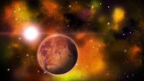 Planeta w przestrzeni pętla ilustracji