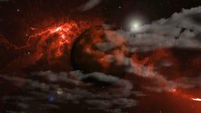 Planeta wybuch przestrzeń royalty ilustracja