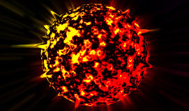 Planeta wybucha zdjęcia stock