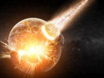 Planeta wybuchu apocalypse royalty ilustracja