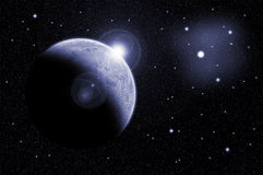 Planeta y estrella abstractos Imagenes de archivo