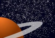 Planeta y estrellas Imágenes de archivo libres de regalías