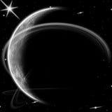 Planeta y estrellas. Imágenes de archivo libres de regalías